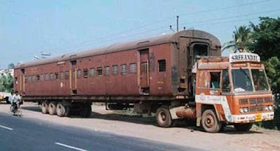 Train in Lorry Body