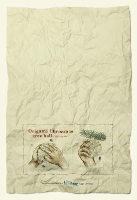 Almere Vandaag: Christmas ball origami