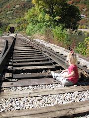 Sittin on the tracks