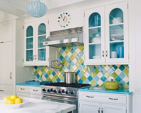 Original cocina azul interiores por paulina aguirre - Cocinas azul tierra ...