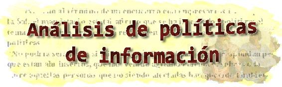 Blog de análisis de la información política