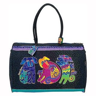 Girly Gear: Dogs and Doggies Travel Bag by Laurel Burch :  travel bag doggies dogs