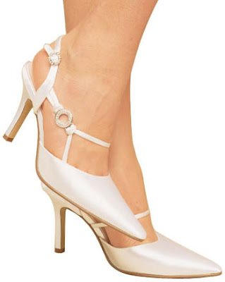 Silk satin bridal shoes