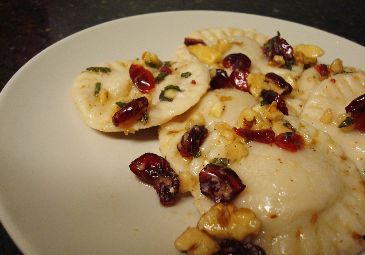 Wilde in the Kitchen: Acorn Squash Ravioli with Cranberry Walnut Sauce