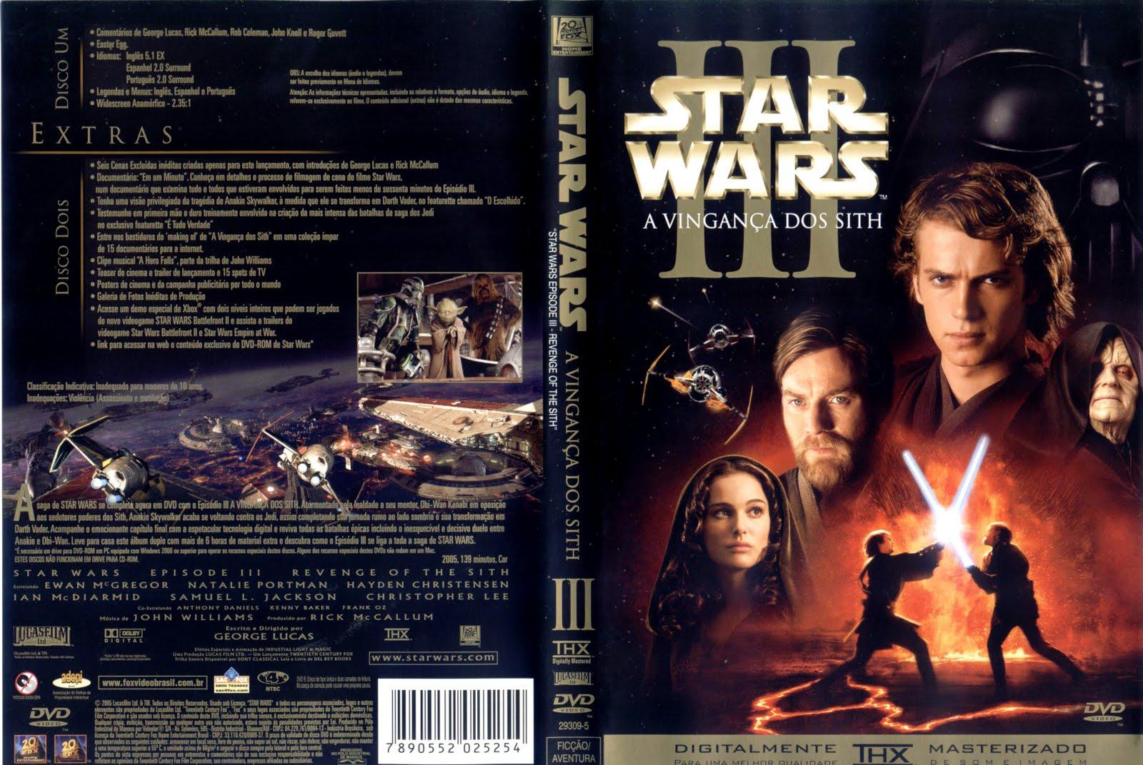 Capas DVD Star Wars A Saga Completa (Todas as capas dos filmes)