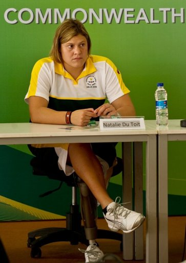 South Africa Paralympics swimming champion Natalie Du Toit says she