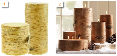 birch tree bark candles