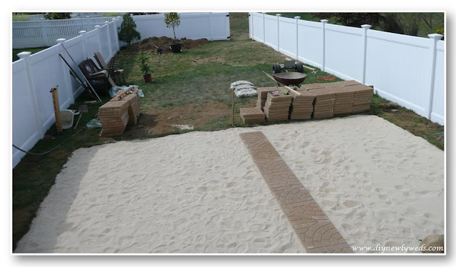 how to install stone patio pavers