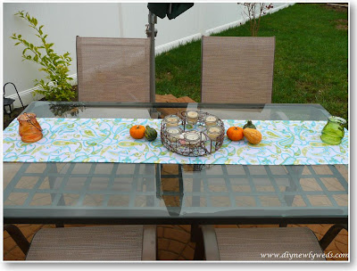 outdoor patio table place setting