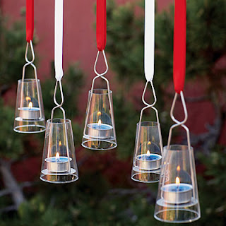 4th of July hanging tea lights