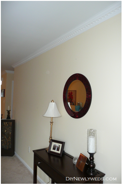 Diy Newlyweds Diy Home Decorating Ideas Projects Easy Crown Molding Installation