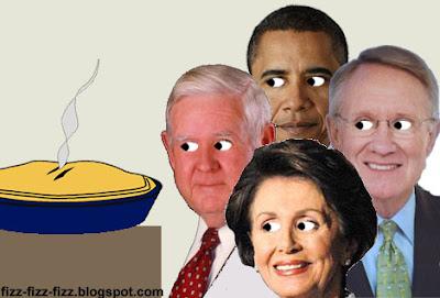 Pelosi Reid Barack Murtha Eyeing Pork Pie