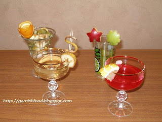easy apple garnish