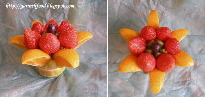 Garnishfoodblog fruit carving arrangements and food Fruit bouquet