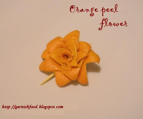Plate Garnishes for Entries http://garnishfood.blogspot.com/2010/12/orange-peel-garnish-flowers.html