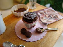Miniature baking with chocolate....