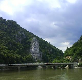 Danube Gorge - Head of Decebal, Dacian King - Romanian - Serbian border