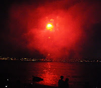 Vancouver's Celebration of Light 2010 - Second Night - Spain team - red fireworks