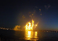 Yellow flames at Vancouver's Celebration of Light 2010 - Second Night - Spain team