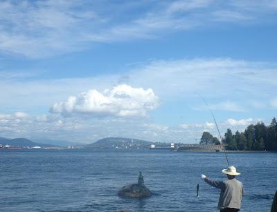 Fishermen in Stanley Park, Vancouver