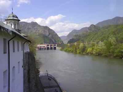 Olt River near Cozia Monastery