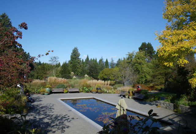 Phyllis Bentall Garden in October at VanDusen Botanical Garden