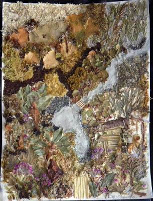 Abstract picture made with natural materials