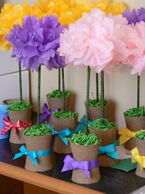 Pretty Spring Floral  Tissue Flowers   DIY idea   party decor   http://www.frostedevents.com