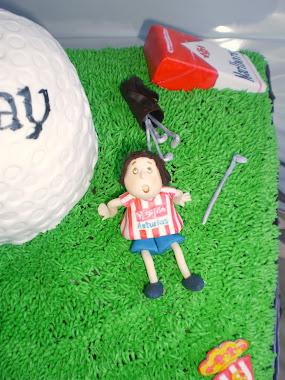 tarta de golf.