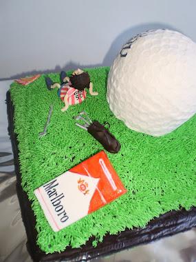 tarta para un hombre estupendísimo y fumador.