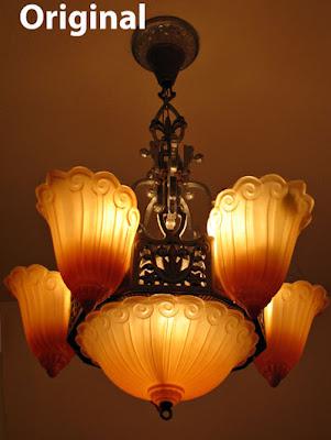 art166 amber chandelier digital art photo-manipulation