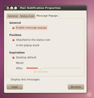 Ubuntu E-mail értesítő