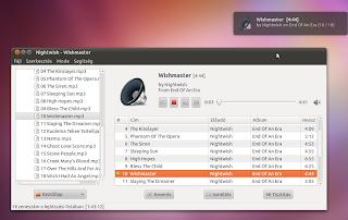Ubuntu Linux Decibel lejátszó