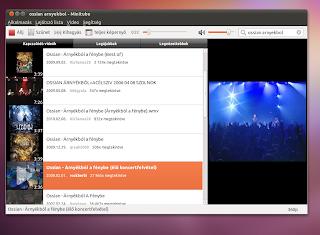Ubuntu Linux zenelejátszó