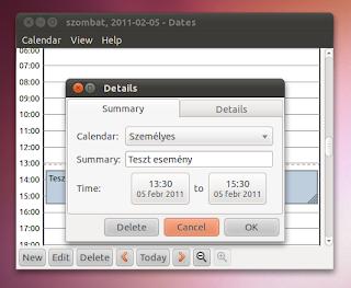 Szervező Ubuntu dates
