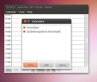 Dazes Naptár Ubuntu