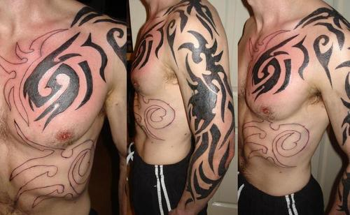 tribal tattoos calf