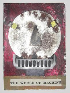 painted tin robot art