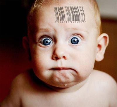 Eco Fascism Bares Its Teeth: Global Warming Alarmist Wants to Barcode Babies  baby barcode