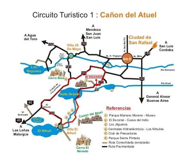 Circuito Turistico : Cabañas el soleado san rafael mendoza circuito