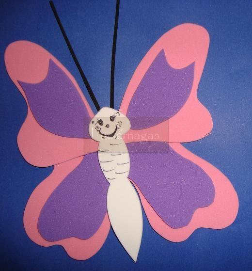 LUCIERNAGAS - Todo en Goma Eva -: Mariposas - Ideales para Nenas