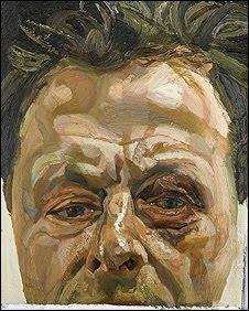 lucian freud self portrait with a black eye