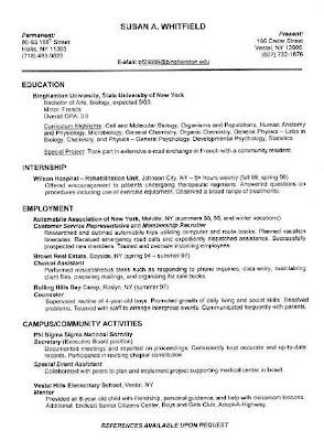 detailed resume sample