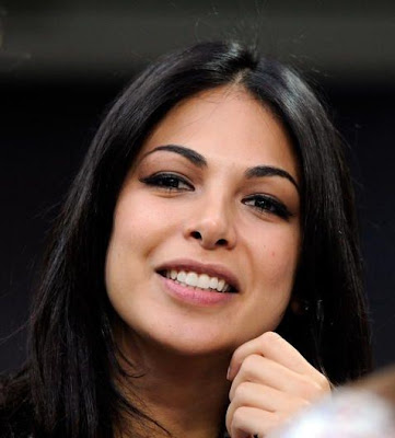 Actress Moran Atias, AC Milan and Juventus Match