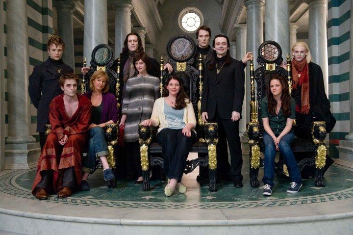 Twilight saga New Moon casting with Stephenie Meyer on the Volturi set in