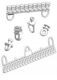 glisseurs rouleurs curseurs et accessoires en plastique pour rails de rideaux. Black Bedroom Furniture Sets. Home Design Ideas