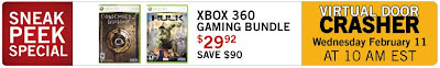 The Source VIRTUAL DOOR CRASHER Deal - Xbox 360 Game Bundle