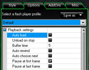 auto load checkbox