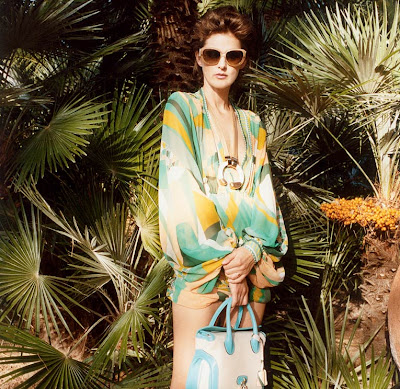 Fashion Campaign on Popieces  Emilio Pucci Summer 2009 Campaign