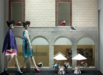 La Rinascente Department Store Windows by Moschino Creative Director Rossella Jardin
